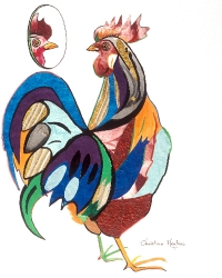 Rooster With Mirror