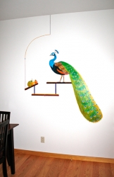 Peacock, Ladybug and Pears