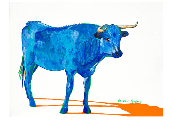 Blue Blue Cow Christine Meytras
